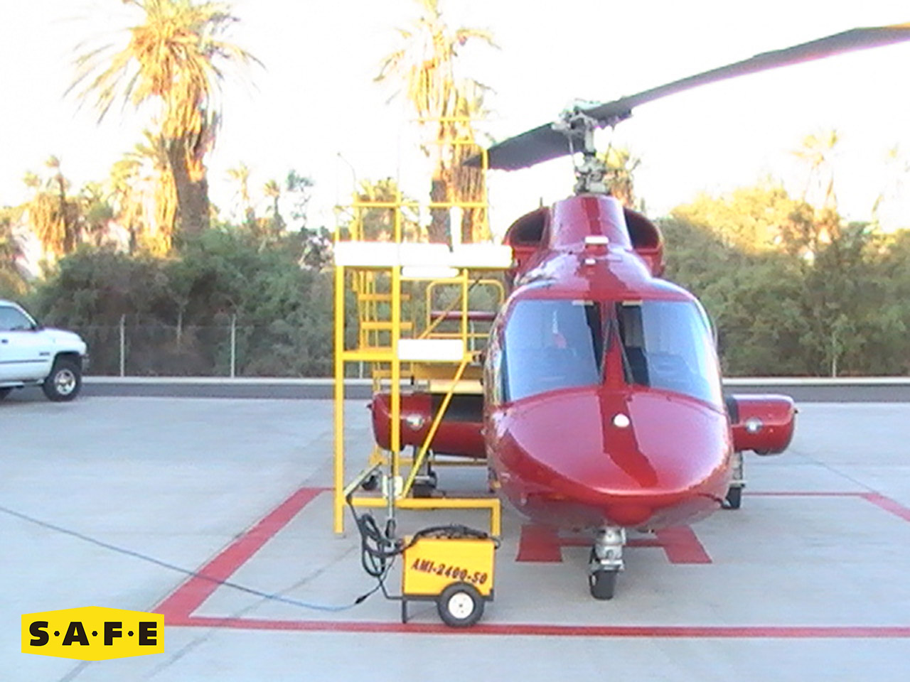 Bell Rotor Wing Aircraft Maintenance Platforms Safe