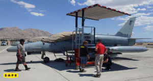Fighter Jet Maintenance Shade Canopy