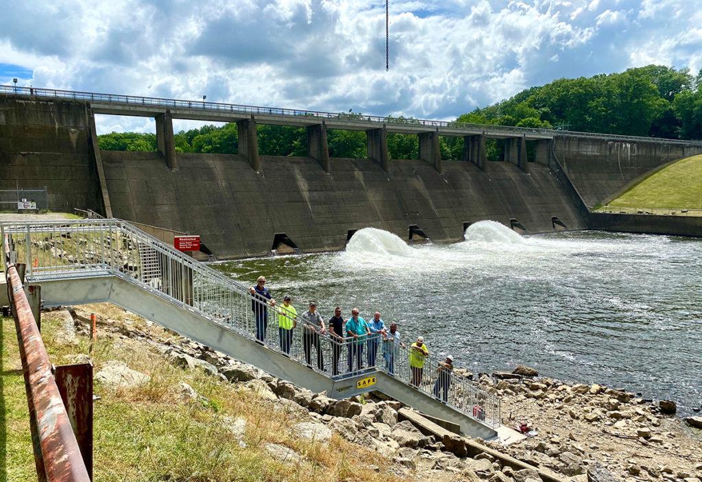 Shenango River Dam Custom Stairway - Hermitage, Pennsylvania - S.A.F.E. Structure Designs