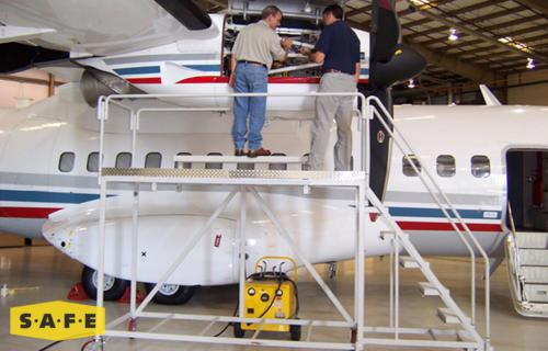 Custom Engine Maintenance Stand for CASA235 - SAFE Structure Designs