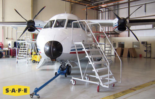 Custom Aviation Maintenance Stand for CASA235 - SAFE Structure Designs