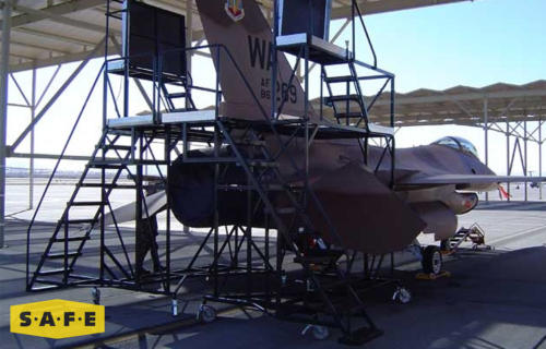 Custom Tail Fuselage Maintenance Platform for the Lockheed Martin F-16 Fighting Falcon - SAFE Structure Designs