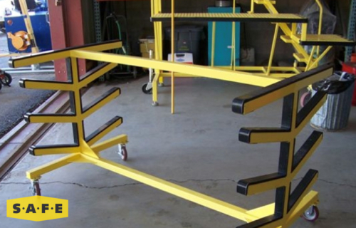 Custom Built Hangar Equipment - Rotor Wing Aircraft Blade Storage Rack - SAFE Structure Designs