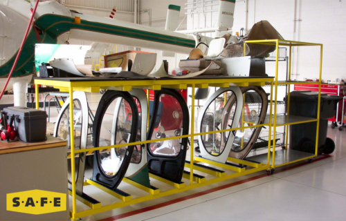 Custom Built Hangar Equipment - Rotor Wing Aircraft Door Storage Rack - SAFE Structure Designs