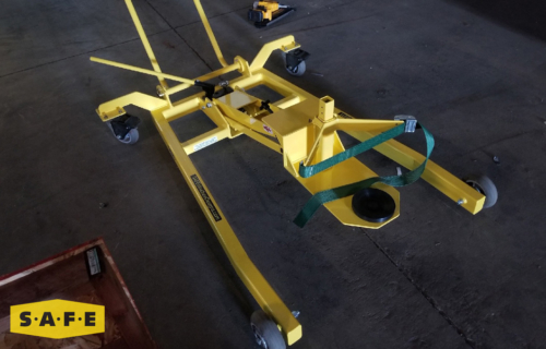 Custom Built Hangar Equipment - Gimble Installation & Removal Device (GIRD) with Adjustable Strap - SAFE Structure Designs