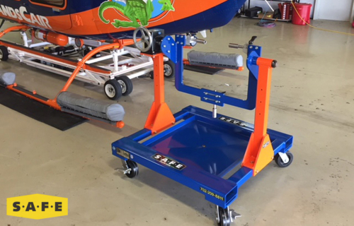 Custom Built Hangar Equipment - Engine Stand for Rolls Royce Allison 250, C20, C30, and C47 Engines - SAFE Structure Designs