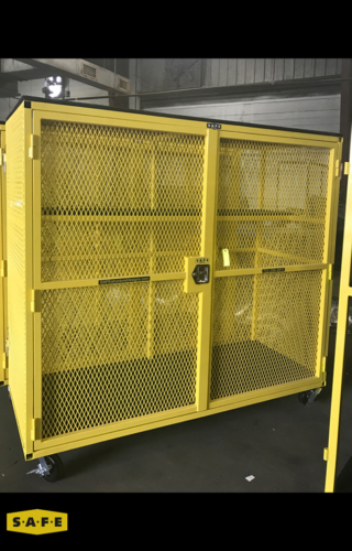 Custom Built Hangar Equipment - Parts Storage Cage - SAFE Structure Designs