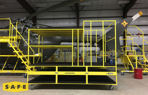 Custom Built Hangar Equipment - Storage Stand for the NM Army National Guard Lakota Fleet - SAFE Structure Designs