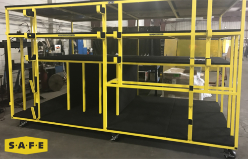 Custom Built Hangar Equipment - Storage Stand for the USCG's Fleet of MH-60 Jayhawks - SAFE Structure Designs