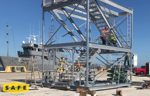 Marine Gangway Brow Stand Equipment Custom Built for the US Navy - SAFE Structure Designs